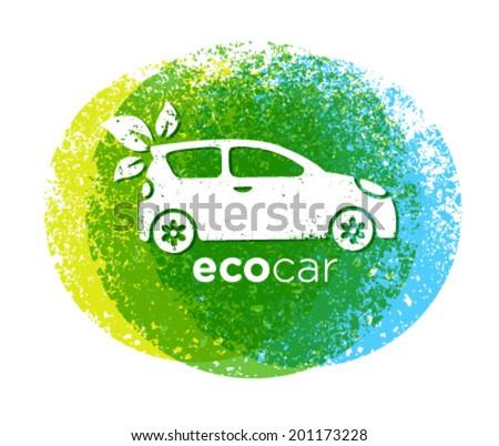 Eco Car Drive Green Vector Natural Friendly Concept - stock vector