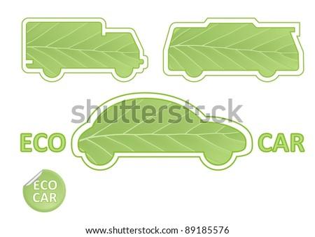 Eco Car Emblems vector - stock vector