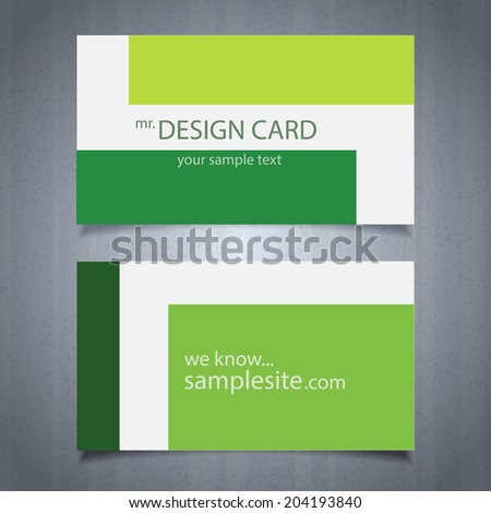 Eco card design, vector - stock vector