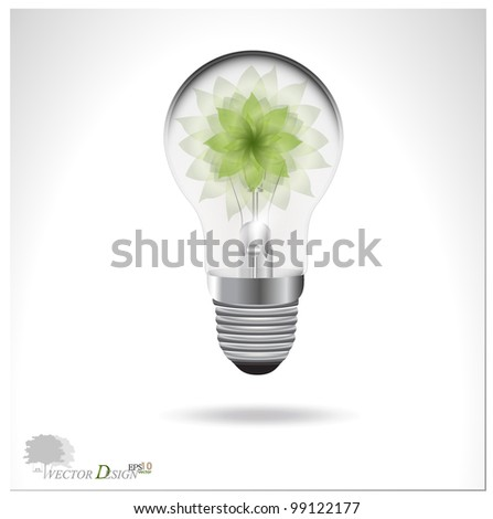 Eco concept: A light bulb with tree. Vector illustration.