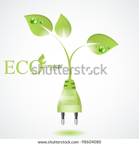 Eco concept design - stock vector