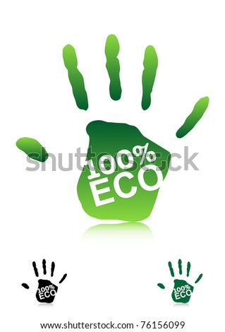 ECO Concept. Vector Icons - stock vector