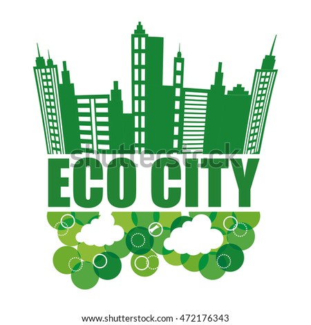 Eco concept with icon design, vector illustration 10 eps graphic.