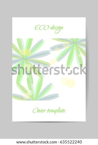 Eco design cover template. Vector Brochure, leaflet, flyer, cover template. Modern Floral Abstract background