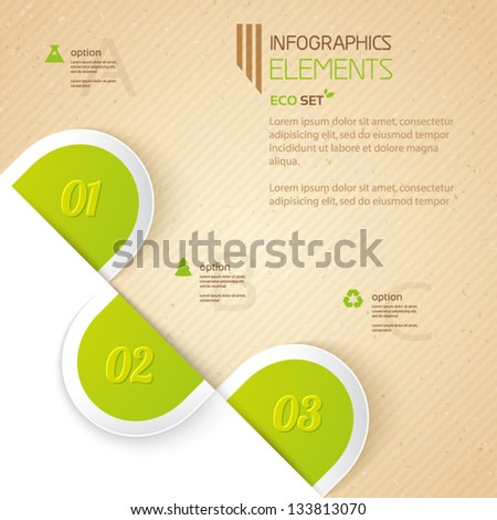 Eco design elements infographic. Can be used for presentations, web design, infographics, number options. - stock vector