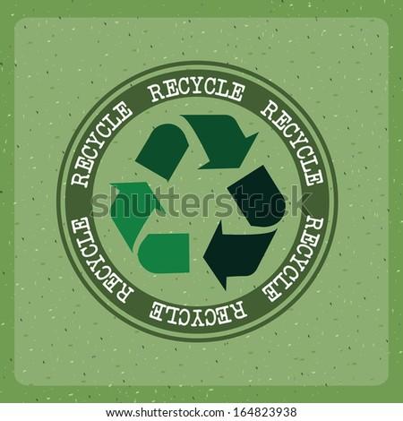 eco design over green background vector illustration - stock vector