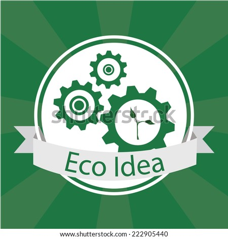 Eco Design over green color background