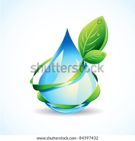 Eco drop of water - stock vector