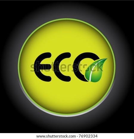 eco ecology icon - stock vector