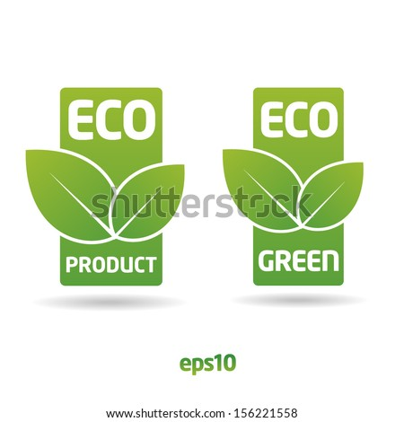 Eco, ecology label sticker - stock vector
