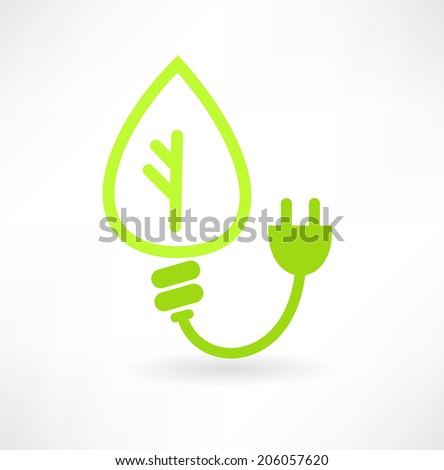 eco energy concept icon - stock vector