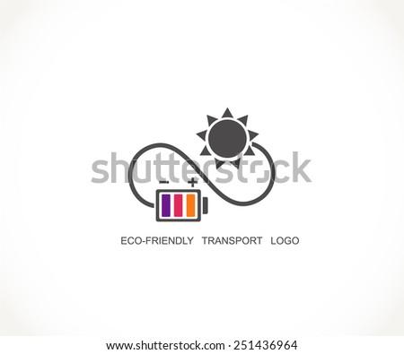 Eco energy logo. Recycle, energy saving symbols. - stock vector