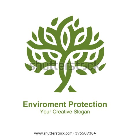 Eco Enviroment Protection icon or logo. Vector illustration design - stock vector