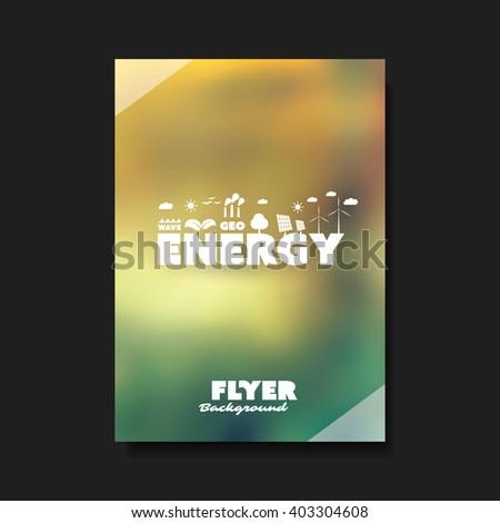 Eco Flyer Design Template - Renewable Energy Theme - stock vector