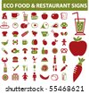 eco food & restaurant signs. vector - stock vector