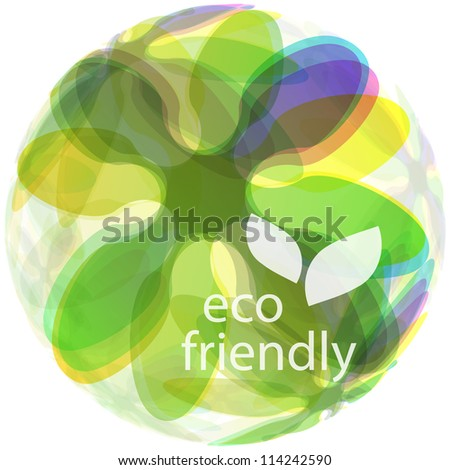 ECO FRIENDLY. Abstract vector illustration. - stock vector