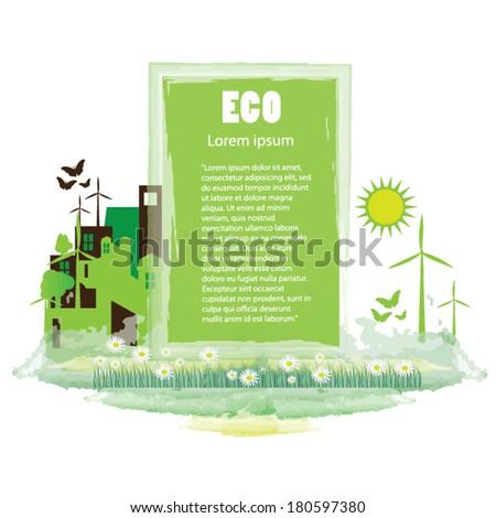 Eco friendly background. go green concept. - stock vector