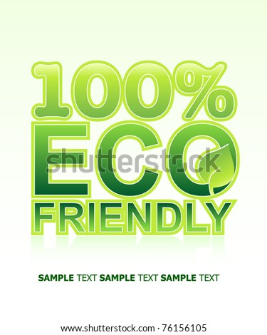 ECO FRIENDLY Concept. Vector Template - stock vector