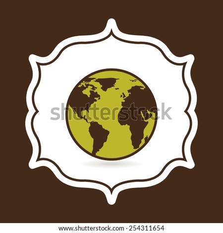 eco friendly design, vector illustration eps10 graphic  - stock vector