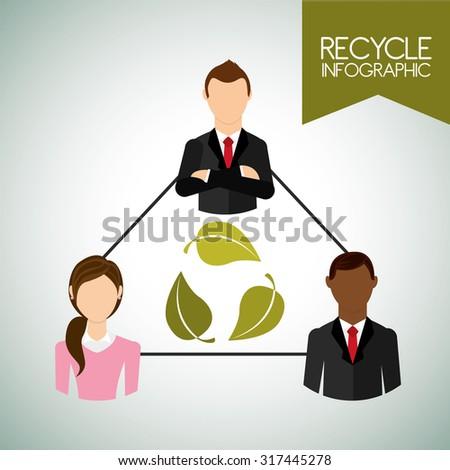 eco friendly design, vector illustration eps10 graphic  - stock vector