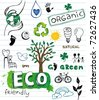 Eco friendly Doodles - stock photo