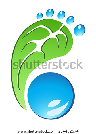Eco Friendly Footprint vector - stock vector