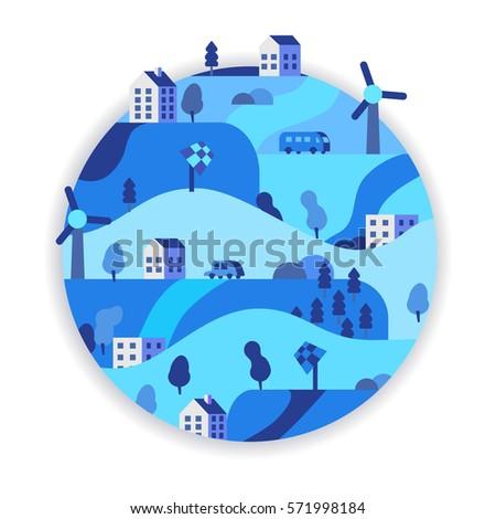 Eco Friendly Green Energy Concept Vector Stock Vector