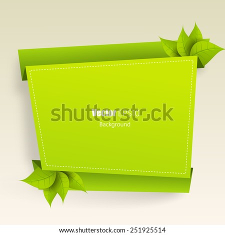 Eco friendly green label - stock vector
