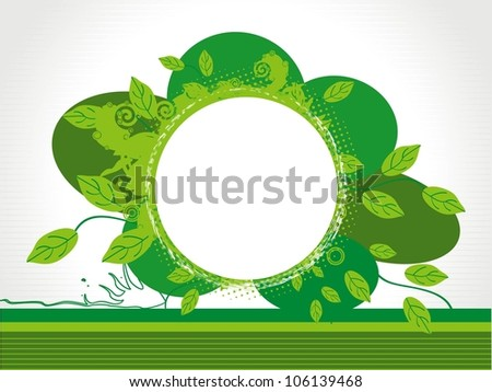 Eco friendly green origami template, vector - stock vector