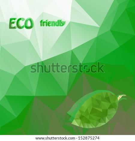 eco friendly green polygonal background. Vector, EPS 10 - stock vector