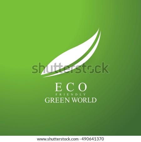 Green world logo