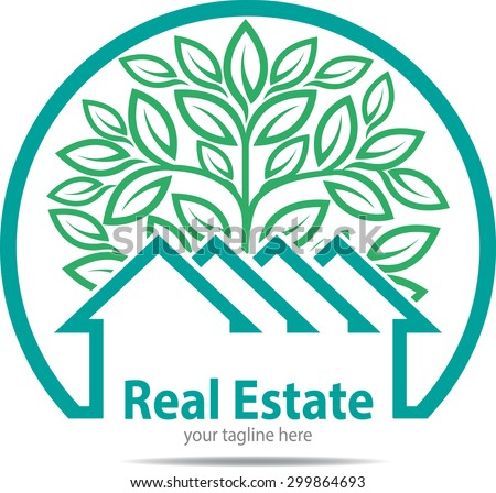 Eco Friendly Homes logo or symbol for property, real estate company