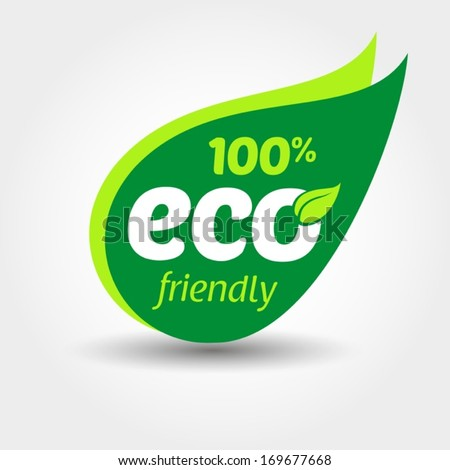 Eco friendly label - stock vector