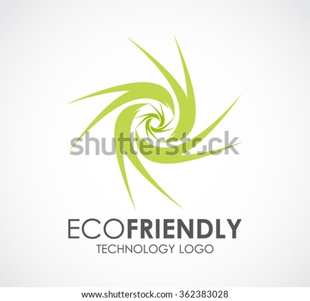 Eco friendly of circle technology abstract vector and logo design or template energy power business icon of company identity symbol concept - stock vector
