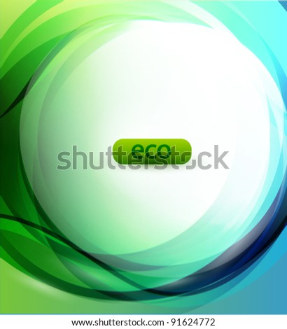 Eco-friendly sphere abstract background - stock vector