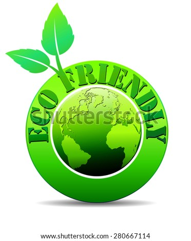 Eco Friendly World - Eco Green World - stock vector