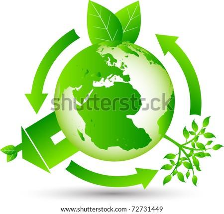 Eco Globe - stock vector
