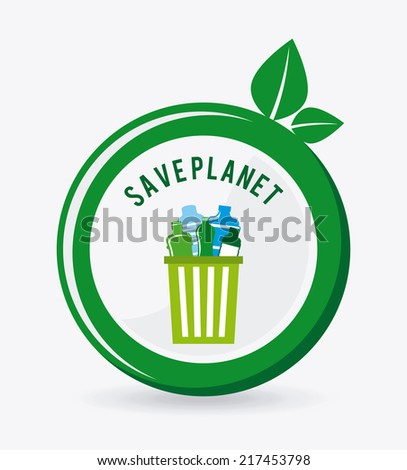 eco graphic design ,vector illustration - stock vector