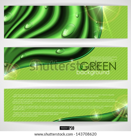Eco green background. Vector illustration. Eps 10.