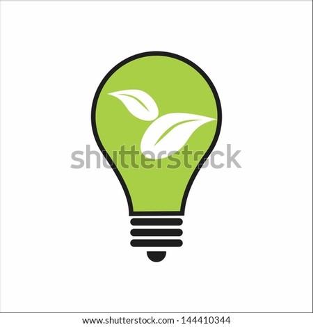 Eco Green Bulb - stock vector