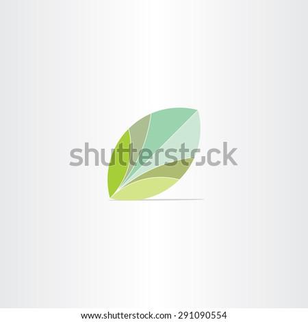 eco green leaf flat vector icon design - stock vector