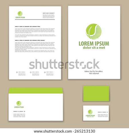 Eco green leaf logo template. - stock vector