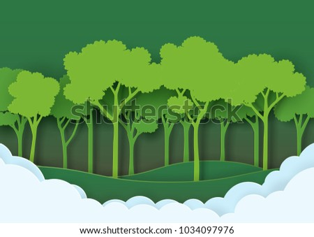 eco green nature forest background template save stock vector