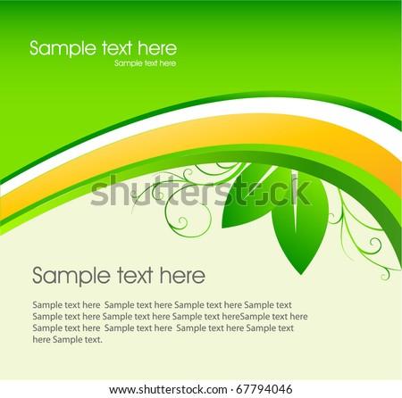 eco green template - stock vector