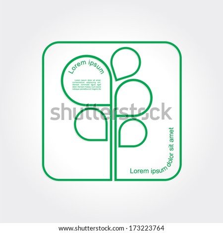 Eco Green Tree logo template. Vector illustration - stock vector