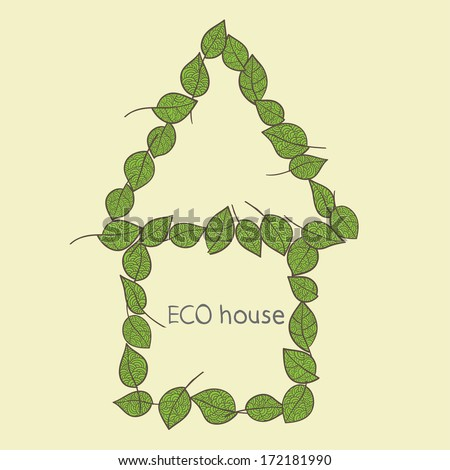 Eco home icon. Vector - stock vector