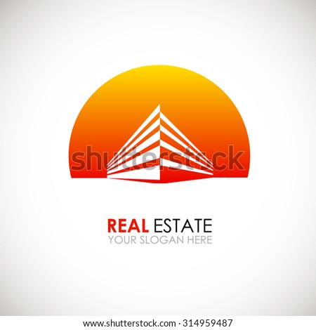 Eco house and real estate logo template. Home, housing, ecological materials, safe environmental