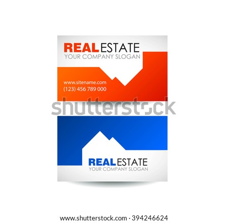 Eco house and real estate logo template. Home, housing, ecological materials, safe environmental. Real estate logo design. Business card design idea