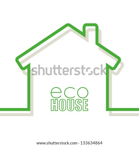 Eco House Banners - stock vector