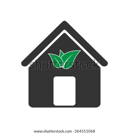 Eco house. Vector illustration - stock vector
